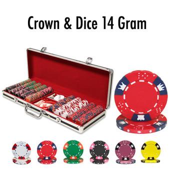 500 Ct - Custom - Crown & Dice 14 G - Black Aluminum