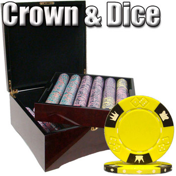 750 Ct - Pre-Packaged - Crown & Dice 14 G - Mahogany