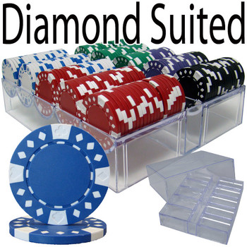 200 Ct Pre-Packaged - Diamond Suited 12.5G - Acrylic Tray