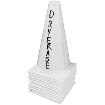 Set of 10 Dry Erase Cones with Marker