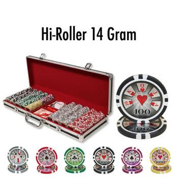 500 Ct - Custom Breakout - Hi Roller 14 G - Black Aluminum