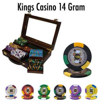 300 Ct - Pre-Packaged - Kings Casino 14 G - Walnut