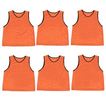 6-pack Adult Scrimmage Pinnies, Orange