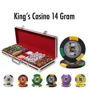 500 Ct - Custom - King's Casino 14 G - Black Aluminum