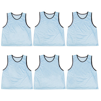 6-pack Adult Scrimmage Pinnies, Light Blue