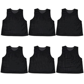 6-pack Adult Scrimmage Pinnies, Black