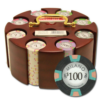 """200Ct Claysmith Gaming """"Milano"""" Chip Set in Carousel Case"""