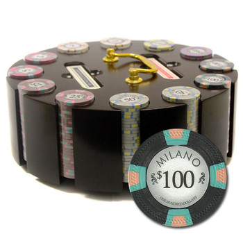 """300Ct Claysmith Gaming """"Milano"""" Chip Set in Carousel Case"""