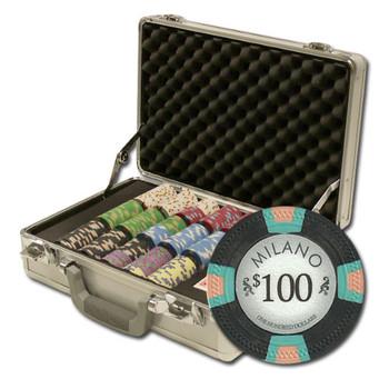 """300Ct Claysmith Gaming """"Milano"""" Chip Set in Claysmith Case"""