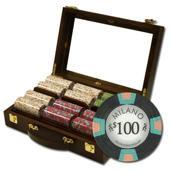 "300Ct Claysmith Gaming ""Milano"" Chip Set in Walnut Case"