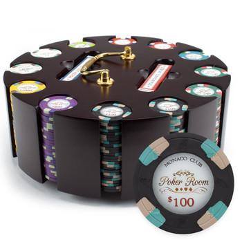 300ct Claysmith Gaming Monaco Club Chip Set in Carousel