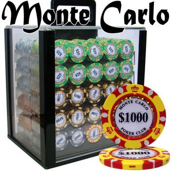 Custom - 1000 Ct Monte Carlo Chip Set Acrylic Case
