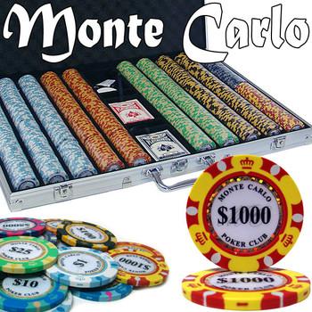 Custom - 1000 Ct Monte Carlo Chip Set Aluminum Case