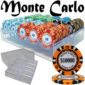 Custom - 200 Ct Monte Carlo Chip Set in Acrylic Tray Case
