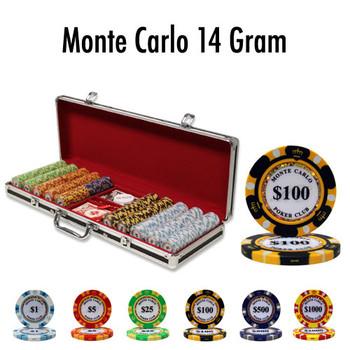 500 Ct - Custom Breakout - Monte Carlo 14 G - Black Aluminum