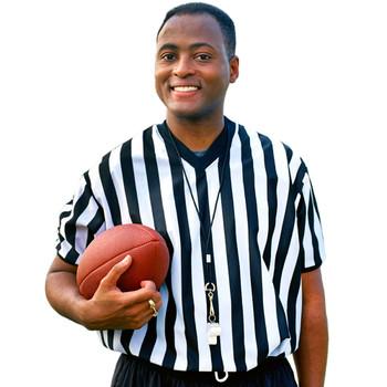 Men's V-neck Referee Jersey, XXL