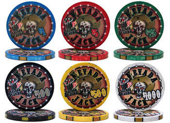 Custom - 1000 Ct Nevada Jack 10 Gram Chip Set Rolling Case