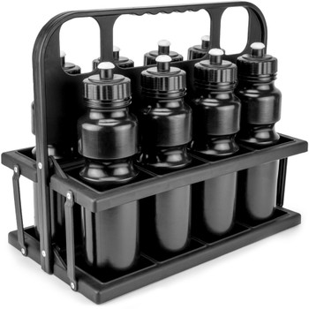 8-Bottle Carrier with 8 Water Bottles
