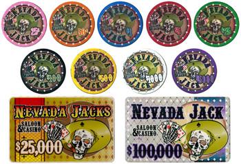 500 Ct - Custom - Nevada Jack 10 G - Black Aluminm