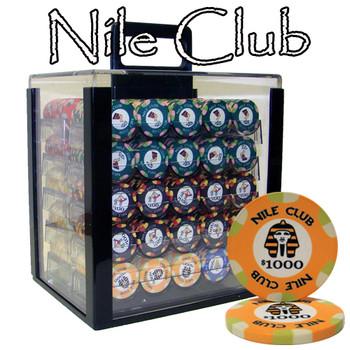 1000 Ct Standard Breakout Nile Club Chip Set - Acrylic Case