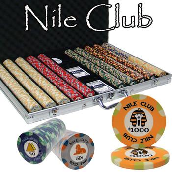 1000 Ct Standard Breakout Nile Club Chip Set - Aluminum Case