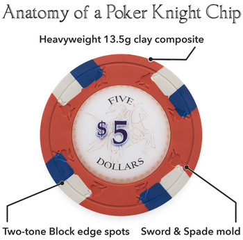 1000ct Claysmith Gaming Poker Knights Chip Set in Acrylic
