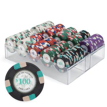 200ct Custom Claysmith Gaming Poker Knights Chip Set Acrylic