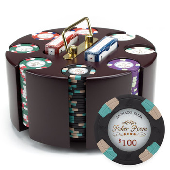 200ct Claysmith Gaming Poker Knights Chip Set in Carousel