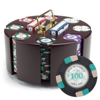 200ct Custom Claysmith Gaming Poker Knights Chip Carousel