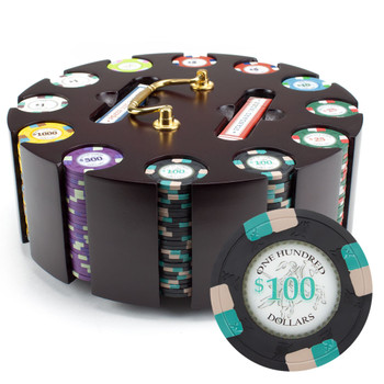 300ct Claysmith Gaming Poker Knights Chip Set in Carousel