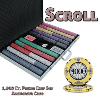 1000 Ct Custom Breakout Scroll Chip Set - Aluminum Case