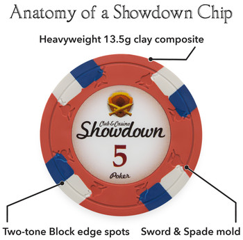 1000ct Claysmith Gaming Showdown Chip Set in Acrylic