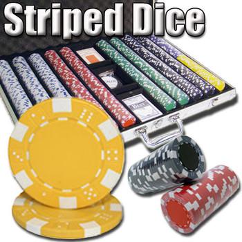 1,000 Ct - Custom Breakout - Striped Dice 11.5 G - Aluminum