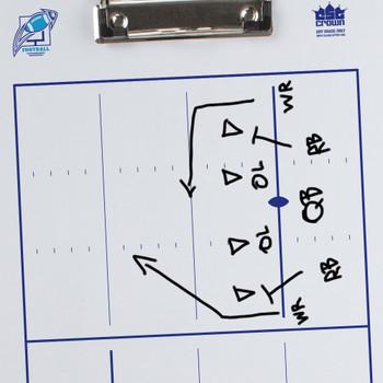 Dry Erase Football Coaching Clipboard