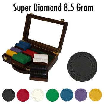 Custom Breakout 300 Ct Super Diamond Chip Set - Walnut