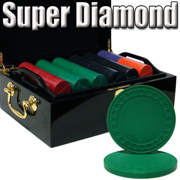 Custom Breakout 500 Ct Super Diamond Chip Set - Mahogany