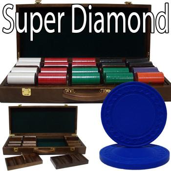 Custom Breakout 500 Ct Super Diamond Chip Set - Walnut