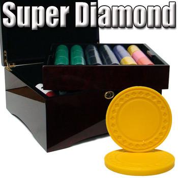Custom Breakout 750 Ct Super Diamond Chip Set - Mahogany