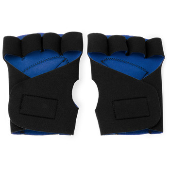 Half Finger Padded Cycling Gloves, Blue