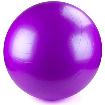 75cm Purple Exercise Ball with Foot Pump