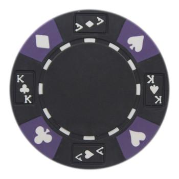 Roll of 25 - Black - Ace King Suited 14 Gram Poker Chips