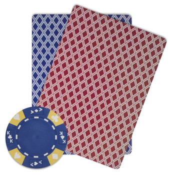 Roll of 25 - Blue - Ace King Suited 14 Gram Poker Chips