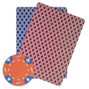 Roll of 25 - Orange - Ace King Suited 14 Gram Poker Chips