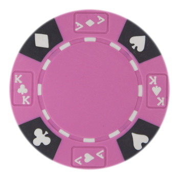 Roll of 25 - Pink - Ace King Suited 14 Gram Poker Chips