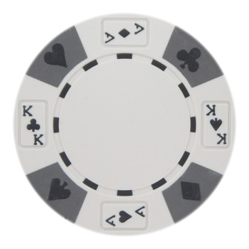 Roll of 25 - White - Ace King Suited 14 Gram Poker Chips