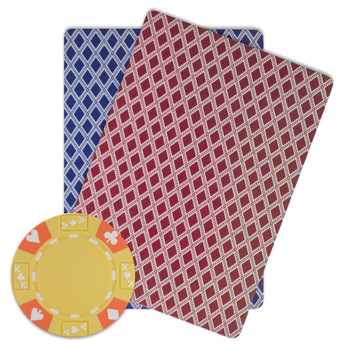 Roll of 25 - Yellow - Ace King Suited 14 Gram Poker Chips