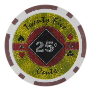 Roll of 25 - Black Diamond 14 Gram - .25¢ (cent)