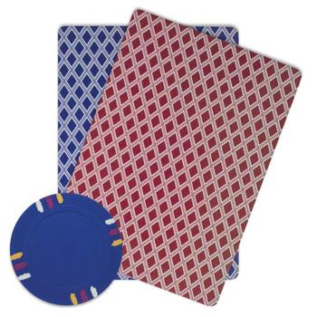 Roll of 25 - Dark Blue Blank Claysmith 12 Stripe Poker Chip