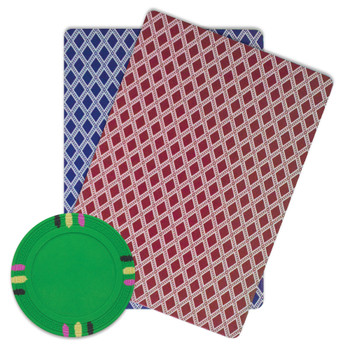 Roll of 25 - Green Blank Claysmith 12 Stripe Poker Chip - 13