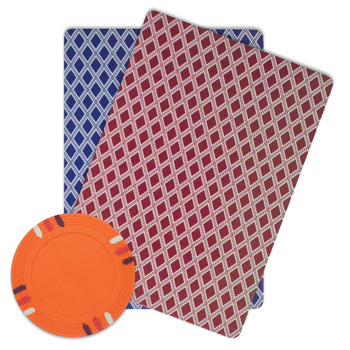 Roll of 25 - Orange Blank Claysmith 12 Stripe Poker Chip - 1